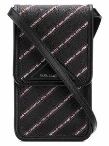 Karl Lagerfeld K/Stripe Logo Super Mini bag - Black