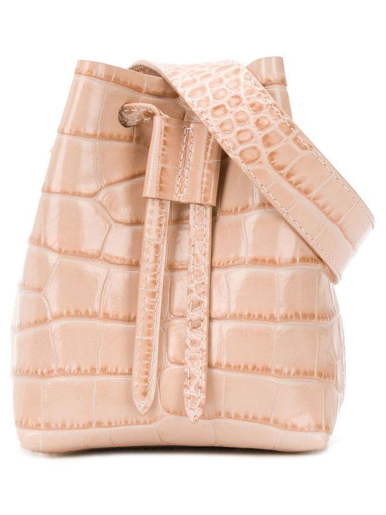 Nanushka Minee croc-effect belt bag - Neutrals