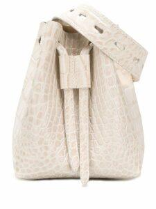 Nanushka Minee croc-effect belt bag - White