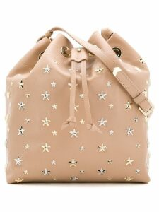 Jimmy Choo star studded bucket bag - Neutrals