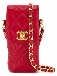 Chanel Pre-Owned quilted chain shoulder pouch - Red
