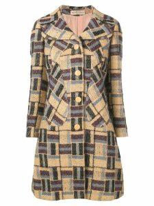 Pierre Cardin Pre-Owned 1960's knitted coat - Neutrals