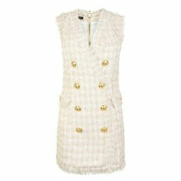 BALMAIN Tweed Double Breasted Mini Dress