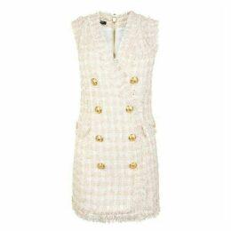 Balmain Tweed Double Breasted Mini Dress