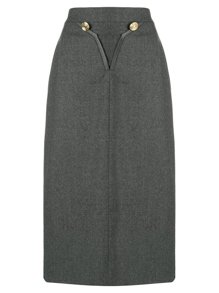 Louis Feraud Pre-Owned 1980 skirt - Grey