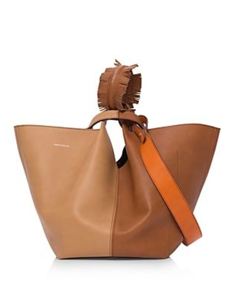 Elena Ghisellini Vanity Large Leather Tote
