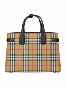 Burberry Check Banner Tote
