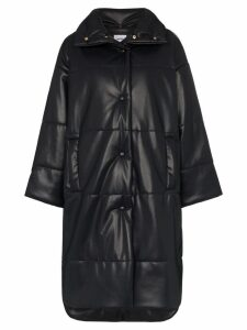 Nanushka Eska oversized vegan leather puffer coat - Blue