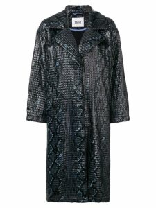 STAND STUDIO textured oversized coat - Black