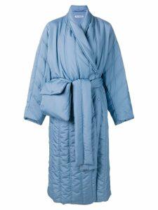 Henrik Vibskov Pipe padded coat - Blue