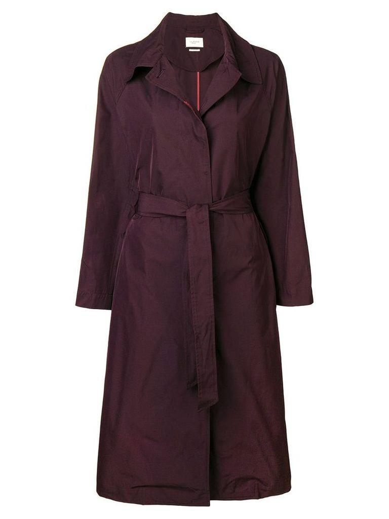 Isabel Marant Étoile belted single-breasted coat - Purple