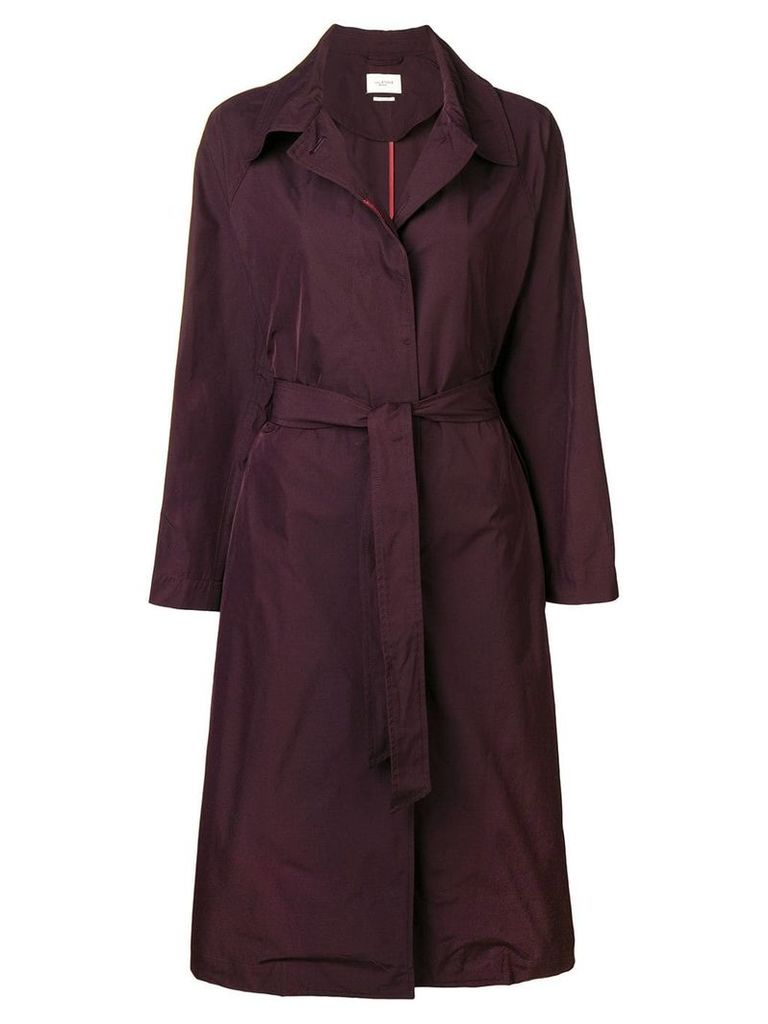 Isabel Marant Étoile belted single-breasted coat - Purple