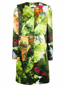 Blugirl floral single-breasted coat - Green