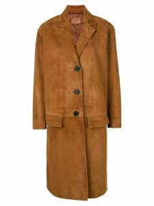 Prada longline coat - Brown