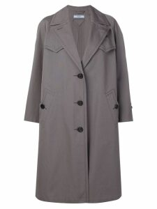 Prada single-breasted reversible coat - Grey