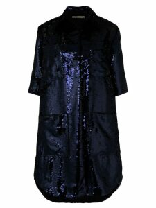 Amen 3/4 sleeves sequin coat - Blue
