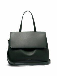 Mansur Gavriel - Mini Lady Leather Cross Body Bag - Womens - Dark Green