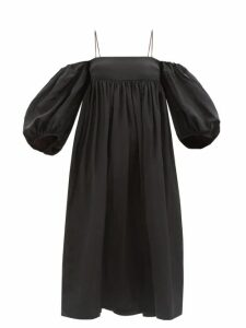 Lisa Marie Fernandez - Angel Sleeve Belted Cotton Blend Dress - Womens - Gold Multi