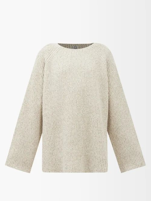 La Prestic Ouiston - Peace Polka Dot Band Collar Silk Twill Shirt - Womens - Blue Multi