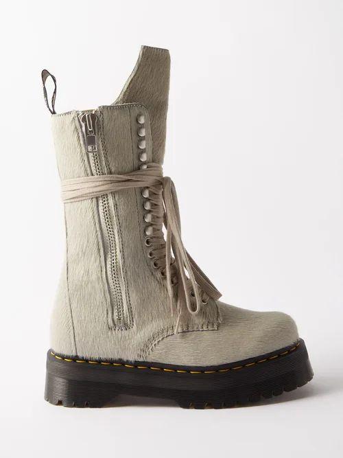 La Prestic Ouiston - Peace Floral Print Band Collar Silk Twill Shirt - Womens - Red Multi