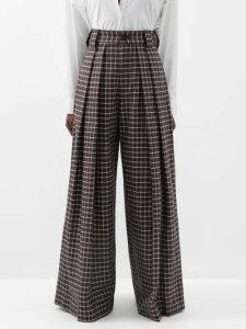 Peter Pilotto - Metallic Striped Silk Blend Chiffon Dress - Womens - Gold Multi