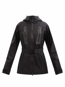 Biyan - Botanical Print Organza Coat - Womens - Black Red