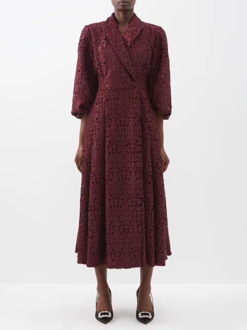 Biyan - Botanical Print Silk Organza Coat - Womens - Ivory Multi