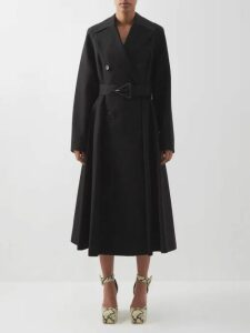 Prada - Crystal Single Breasted Silk Organza Coat - Womens - Black Multi