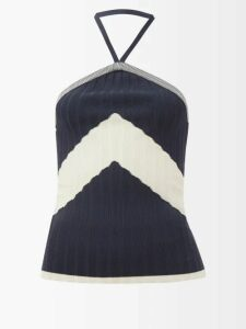 Etro - Varo Paisley Print Silk Skirt - Womens - Black Multi