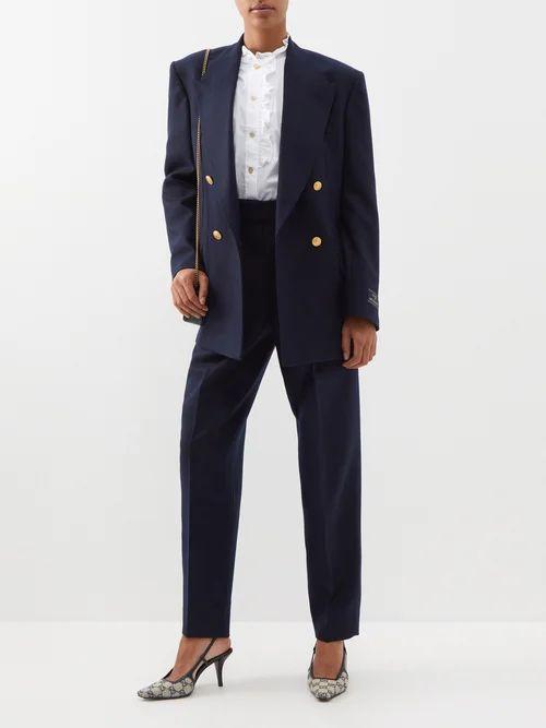 Peter Pilotto - Floral Print Cloqué Midi Skirt - Womens - Black Multi