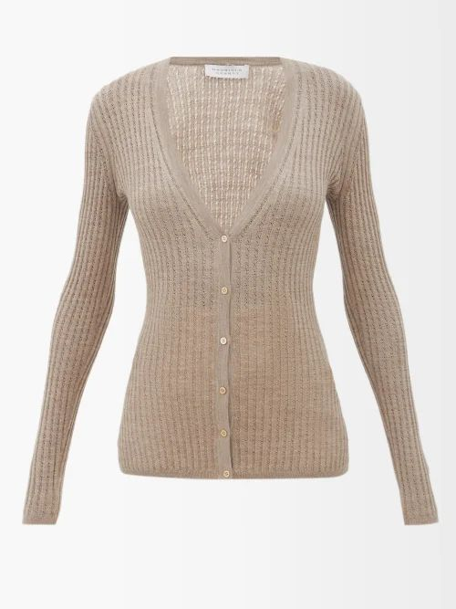The Row - Veica Cashmere Blend Midi Skirt - Womens - Navy