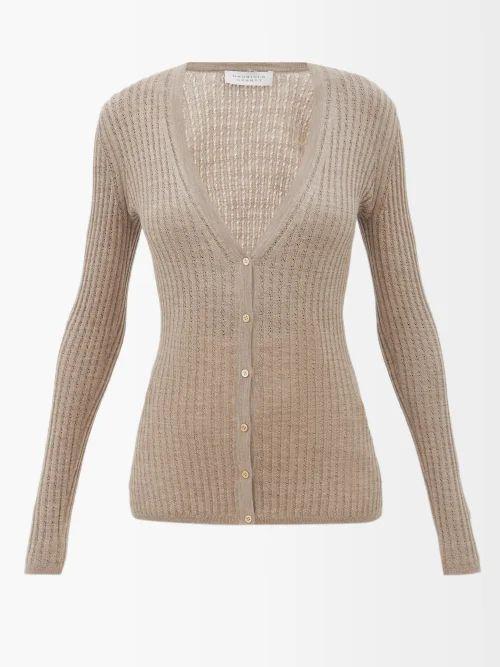 The Row - Veica Cashmere Blend Midi Skirt - Womens - Navy
