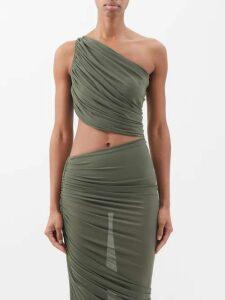 Emilia Wickstead - Camomile Floral Print Crepe Mini Dress - Womens - Pink Multi