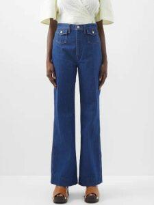 La Prestic Ouiston - Park Avenue Pussy Bow Print Silk Twill Dress - Womens - Green Multi