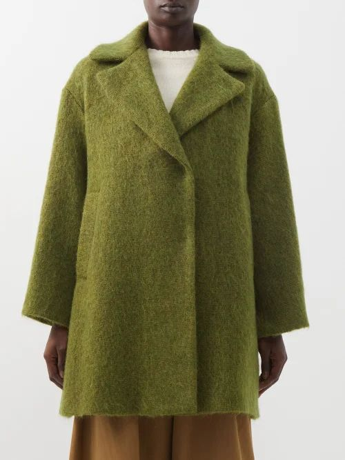 Edward Crutchley - Single Breasted Wool Blazer - Womens - Light Grey