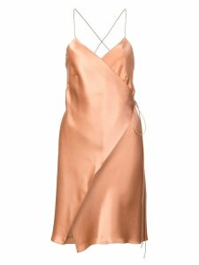 Michelle Mason wrap mini dress - Brown