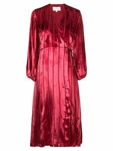 Michelle Mason midi wrap dress - Red