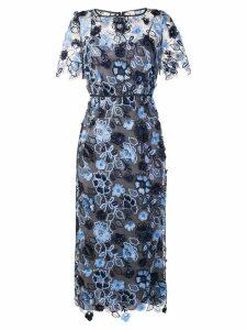 Antonio Marras floral embroidered midi dress - Blue