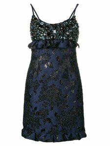 Prada embellished mini dress - Blue