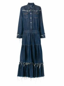 Alanui denim maxi dress - Blue