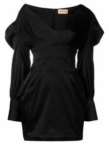 Alexandre Vauthier draped mini dress - Black