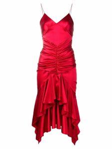 Alexandre Vauthier ruffle slip dress - Red