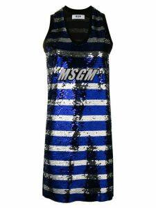 MSGM sequin tank dress - Black
