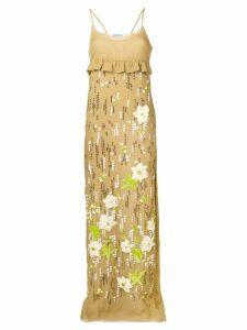 Prada beaded long dress - Neutrals