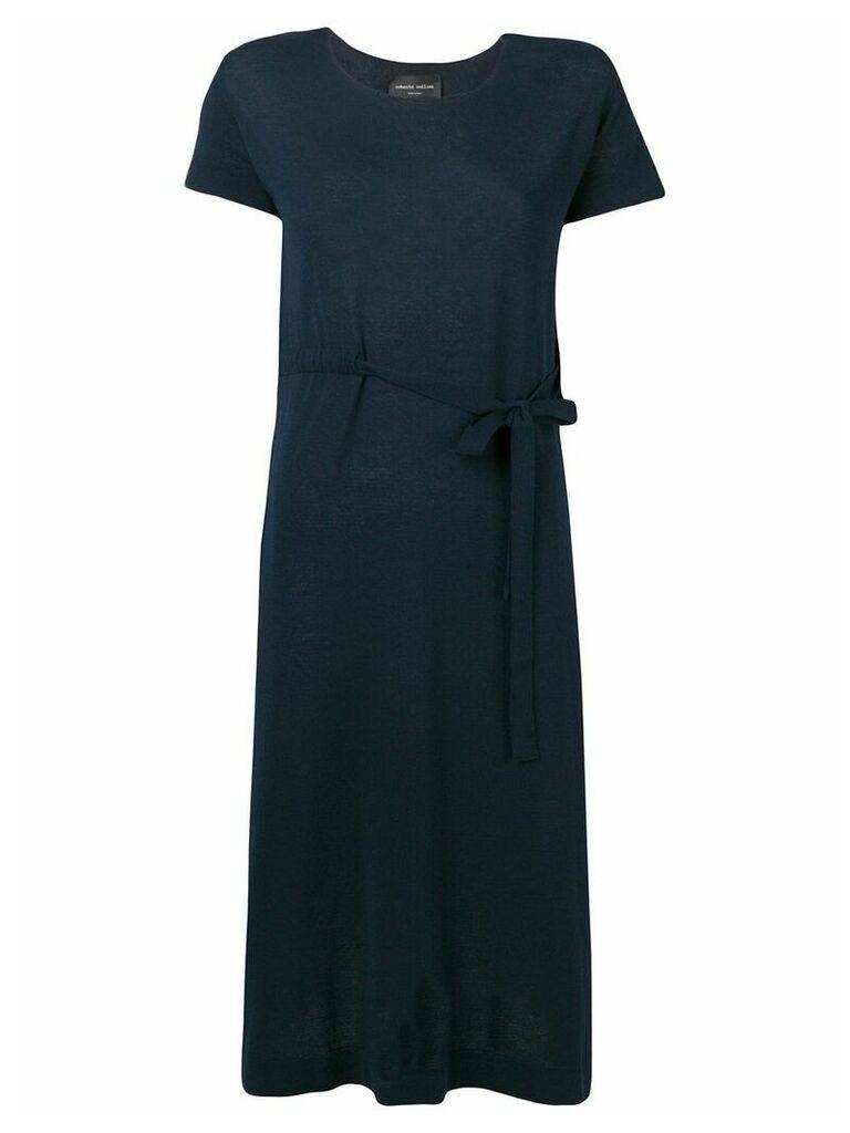 Roberto Collina belted T-shirt dress - Blue