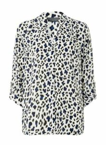 Womens **Tall Multi Colour Leopard Print Shirt- Multi Colour, Multi Colour