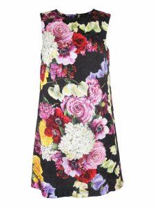 Dolce & Gabbana Floral Print Sleeveless Shift Dress