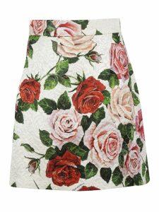 Dolce & Gabbana Floral Mini Skirt