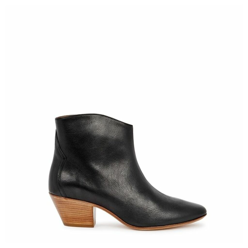 Isabel Marant Dacken 50 Black Leather Ankle Boots