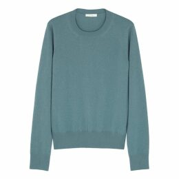 THE ROW Minkia Teal Cashmere Jumper